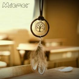 Vintage zaczarowany las Mini Dreamcatcher ręcznie Dream Catcher netto z piórkiem Ornament dekoracyjny o średnicy 3.5 cm Amor048