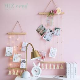 Miz Nordic dekoracji domu konopnej liny z klipsami Nordic styl dekoracji dla dzieci fotografia rekwizyty pocztówka wyświetlacz