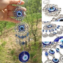 Wiatr kuranty turcja Evil Eye wisiorki Amulet domu ozdoba do powieszenia na ścianie błogosławieństwo ochrony prezentDream Catch