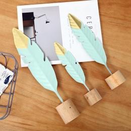 1 PC kreatywny kutego żelaza pióro sypialni dekoracji metalu wyposażenie domu salon prezent ozdoby B