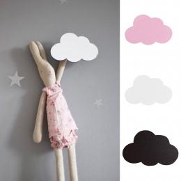 1 Pc Nordic stylu Cartoon chmura dzieci pokój drewniane naklejki ścienne hak do zawieszania dekoracje ścienne Home Decor