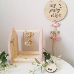 Nordic styl drewniane dla dzieci dekoracja do pokoju dziewczęcego rzemiosło ścienne wiszące wisiorek ozdoba dla dzieci spinka do