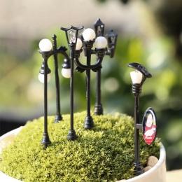 Craft w stylu Vintage DIY miniaturowe lampy kreatywny 1 PC ogród dekoracji domu Mini sztuczne mikro krajobrazu