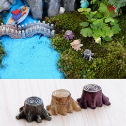 Nowe rzemiosło dekoracje miniaturowe wielokolorowy pień drzewa bajki Terrarium boże narodzenie Xmas Party ogród