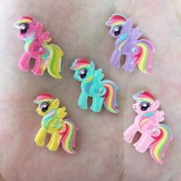 10 sztuk żywica ręcznie malowana śliczne koń Flatback kamień dziecko księga gości przyciski rzemiosła R73