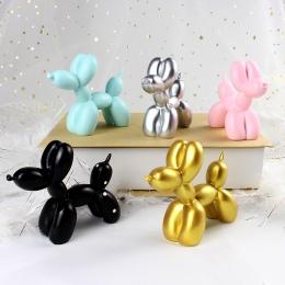 Śliczne małe balon pies żywica rzemiosło rzeźba prezenty moda ciasto do pieczenia dekoracje domu Party deser pulpit Ornament 5 k
