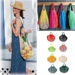 1 Pc 50*35*0.5 cm Multicolor bawełna zakupy, wielokrotnego użytku, sklep spożywczy torby z siatki ekologia rynku String netto to