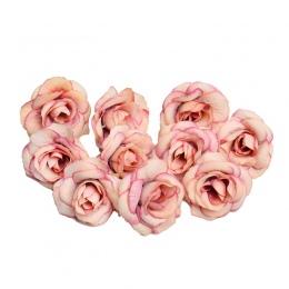 Nowy 10 sztuk sztuczny kwiat 4 cm kwiat róży z jedwabiu głowy ślub dekoracje do domu na imprezę DIY wieniec księga gości pudełko