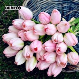 1 PC tulipany sztuczne kwiaty prawdziwy dotyk PU artificiales para decora bukiet tulipan dla domu dekoracje ślubne kwiat B1016