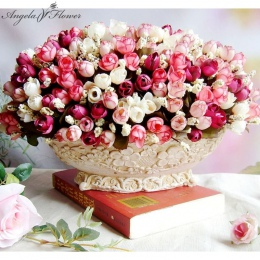 Jesień 15 głów/bukiet mały pąk róż bract sztuczny kwiat jedwabiu róża DIY ślub home dekoracje świąteczne kwiaty róża prezent