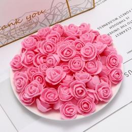 50 sztuk tanie PE mini sztuczne kwiaty dla domu dekoracje ślubne akcesoria fałszywy foma niedźwiedzie księga gości diy wieniec r