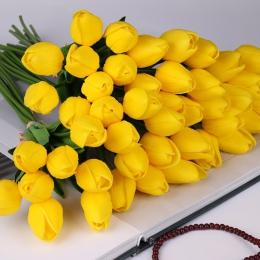 10 sztuk piękno kwiaty jak prawdziwe w dotyku tulipany lateksowe kwiat sztuczny bukiet sztuczny kwiat bukiet ślubny dekoracji kw