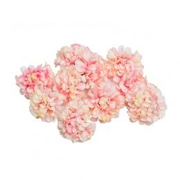 10 sztuk/partia sztuczny kwiat jedwabiu hortensja głowy na ślub dekoracje do domu na imprezę DIY wieniec prezent box księga gośc
