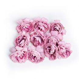 10 sztuk/partia sztuczny kwiat 5 cm kwiat róży z jedwabiu głowy ślub dekoracje do domu na imprezę DIY wieniec księga gości craft