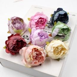 5 sztuk/partia 5 cm wysokiej jakości piwonia kwiat głowy jedwab sztuczne kwiatowa dekoracja ślubna DIY Garland ręcznie robiony k