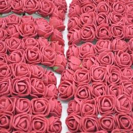 36/72/144 sztuk 2 cm dekoracyjne Teddy niedźwiedź róża z pianki PE sztuczny kwiat bukiet dla domu ślubne dekoracje DIY wieniec s