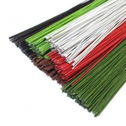 CCINEE 50 sztuk #26 drut papieru 0.45mm/0.0177 Cal o średnicy 40 cm długi drut żelaza wykorzystane do DIY pończochy nylonowe...