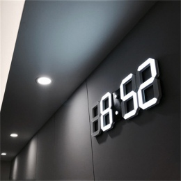 3D doprowadziły nowoczesny zegar ścienny cyfrowy budziki wyświetlacz strona główna kuchnia biuro biuro tabela noc zegar ścienny