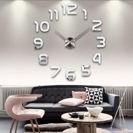 Nowy zegar zegarek zegary ścienne horloge 3d diy akrylowe naklejki na lusterka dekoracji domu salon igły kwarcowy darmowa wysyłk