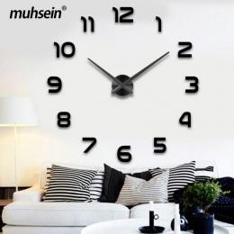 2019 dekoracje ślubne WallClock zegarek muhsein 3D DIY akrylowe lustro naklejki ścienne wystrój salonu kwarcowy igły darmowa wys