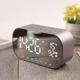 EAAGD LED budzik z radiem FM bezprzewodowy głośnik wzmacniacz Bluetooth Aux TF USB odtwarzacz muzyczny bezprzewodowy dla biura s