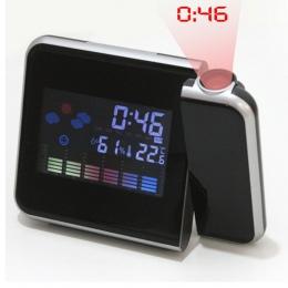 2018 nowych moda uwagę projekcja cyfrowa pogoda LCD drzemki budzik projektor kolorowy wyświetlacz LED podświetlenie dzwon zegar