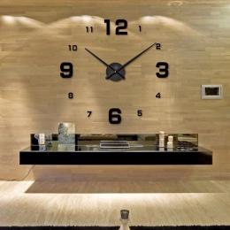 2019 Acrylicl muhsein duże DIY zegar ścienny lustro zegar cyfrowy 3D zegar ścienny spersonalizowane cyfrowe zegary ścienne darmo