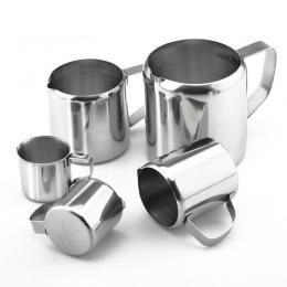 Ze stali nierdzewnej dzbanek do spieniania mleka śmietanka kubek zabielacz do kawy Latte Art dzbanek z wylewka trwała kuchnia ak