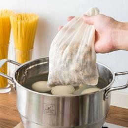 1 sztuk wielofunkcyjny pościel bawełniana filtr wielokrotnego użytku chiński medycyny filtr torba zupa torebki na herbatę-25