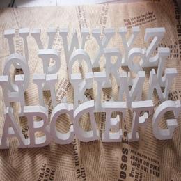 Wolnostojące drewno drewniane litery biały alfabet ślub urodziny strona główna dekoracje Dropshipping Sep7