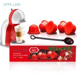Gamlung 5 sztuk wielokrotnego napełniania kapsułka kawy Dolce Gusto Nescafe Dolce Gusto wielokrotnego użytku kapsuła z najwyższ
