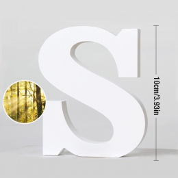 Drewniane litery angielskie 10.5 CM biały list dekoracji ozdoby zdjęcie rekwizyty urodziny dekoracja na przyjęcie ślubne sklepu