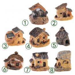 1 pc 15 styl Mini mały dom domki DIY zabawki rzemiosło rysunek mech Terrarium bajki ogród Ornament krajobraz wystrój domu wystró