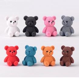 2019 popularne party akcesoria do dekoracji domu śliczne plastikowe teddy niedźwiedź miniaturowe bajki wielkanoc zwierząt ogród