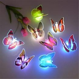 Zmiana koloru ładny motyl LED noc światła pokoju w domu biurko ścienne wystrój domu prezent