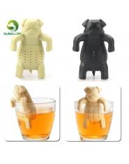 Mops w kubku silikonowy zaparzacz do herbaty do herbaty dla psów filtr dyfuzor przenośny wielokrotnego użytku sitko do herbaty p