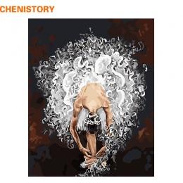 CHENISTORY bezramowe balet tancerz obraz DIY według numerów akrylowe farby na płótnie ręcznie malowane obraz olejny na wystrój d