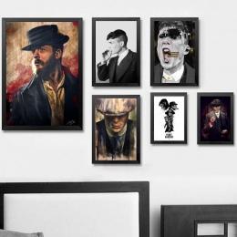 Peaky Blinders film TV Wall Art dekoracje ścienne jedwab drukuje plakat artystyczny obrazy do salonu bez ramki