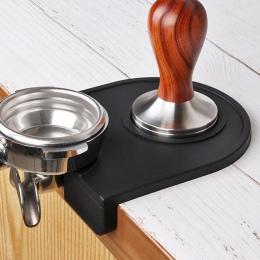 Barista mata antypoślizgowa Espresso Latte Art Pen sabotaż ubijania uchwyt Pad do kawy Tampers bezpieczne mielenia kawy silikono