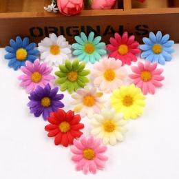 50 sztuk mały jedwabny słonecznik handmade sztuczny kwiat głowy dekoracje ślubne DIY wieniec pudełko Scrapbooking Craft sztuczny