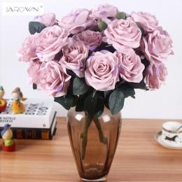 Sztuczny jedwab 1 bukiet francuski róża kwiatowy bukiet sztuczny kwiat ułóż stół kwiaty ślubne Decor Party akcesoria Flores