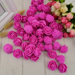 100 sztuk pianki PE sztuczny kwiat róży głowy sztuczne kwiaty tanie dekoracje ślubne na scrapbooking prezent box diy wieniec wie