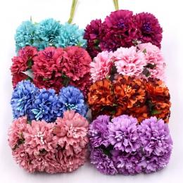 Nagietka 6 sztuk/pęczek 3.5 cm mini stokrotka kwiat bukiet sztuczne kwiatowa dekoracja ślubna diy craft akcesoria do dekoracji d