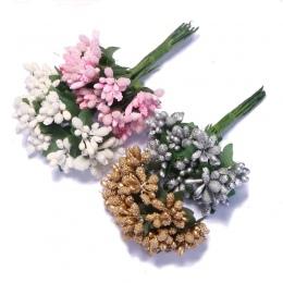 CCINEE 12 sztuk/partia Mulberry Party sztuczne pączki kwiatowe drutu macierzystych/wesele liście pręcik pudełko ślubne dekoracji