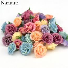10 sztuk 3 cm Mini Rose tkaniny sztuczny kwiat na ślub strona główna dekoracja pokoju ślub buty akcesoria kapelusze jedwab kwiat
