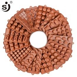 Nowy silikonowe formy czekoladowe 24 kształty czekoladowe narzędzia do pieczenia non-stick ciasto formy galaretki i forma do cuk