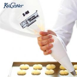 35/40/46/50/55/60 cm 100% bawełna krem ciasto oblodzenie torba do pieczenia ciasto narzędzia torba do rur akcesoria kuchenne eko