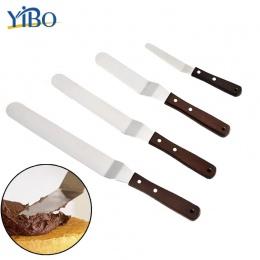 YIBO 4/6/8/10 cal ze stali nierdzewnej ciasto szpachelka masło krem oblodzenie lukier nóż gładka kuchnia ciasto narzędzie do dek