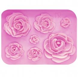 M1023 Rose kwiaty formy silikonowe formy ciasto czekoladowe formy ślubne ciasto dekorowanie narzędzia kremówka Sugarcraft ciasto