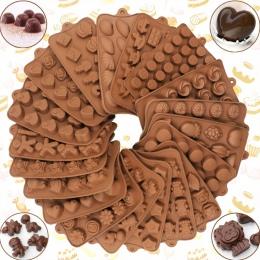 Nowy silikonowe formy czekoladowe 29 kształty czekoladowe narzędzia do pieczenia non-stick silikonowe formy ciasto galaretki i f
